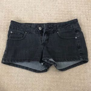 Pants - Black Short Shorts